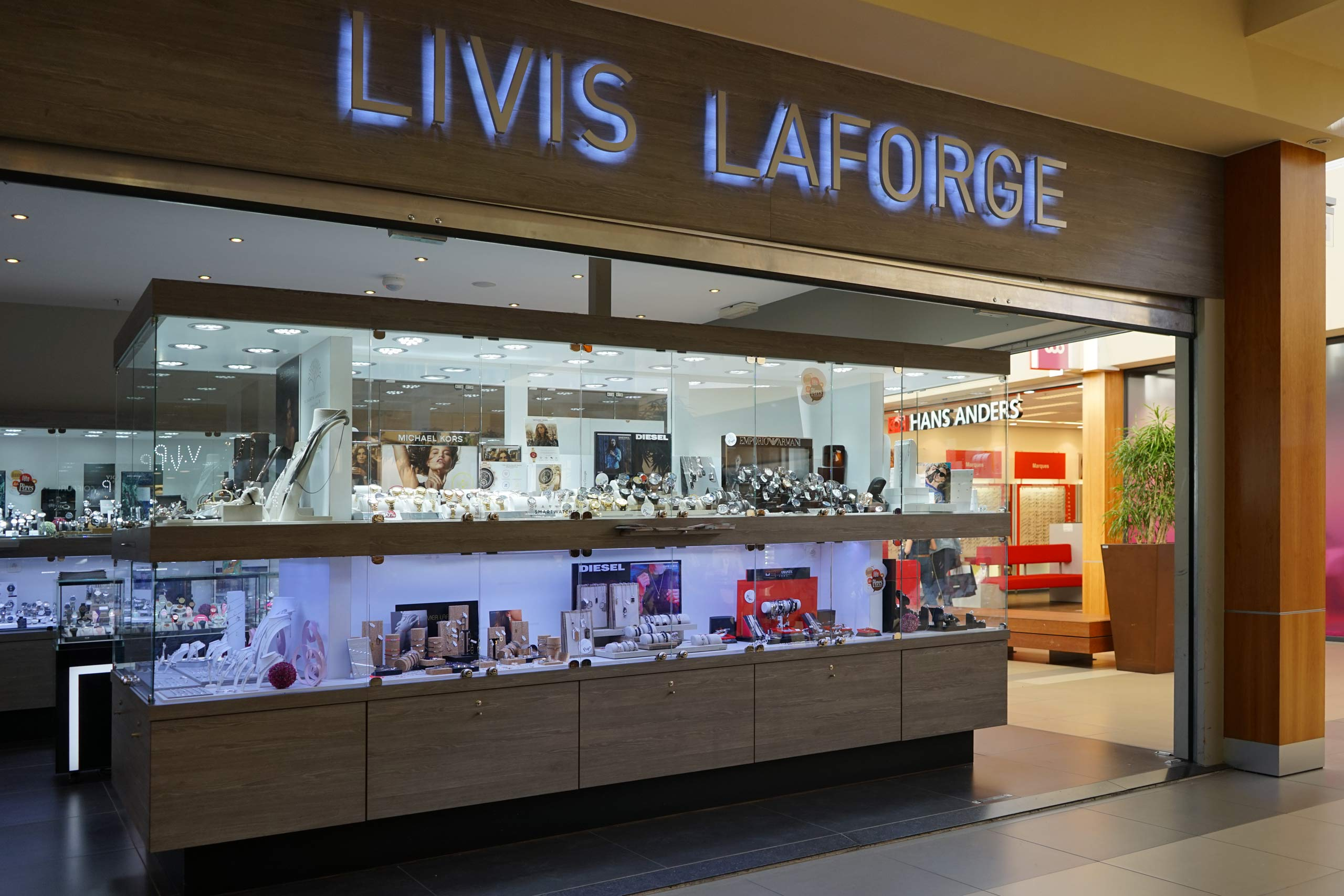 Shopping de Nivelles bijouterie Livis Laforge